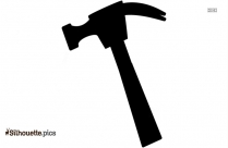 Hammer And Nails Vector Silhouette