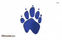 Rabbit Paw Print Silhouette Free Vector Art