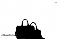 Boy With Back Bag Silhouette