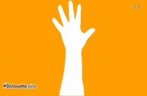 Raised Hand Image Silhouette For Download