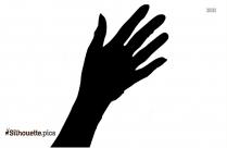 Cartoon Human Hand Silhouette