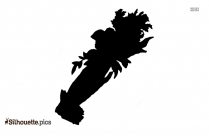 Hand Holding Rose Silhouette Clipart