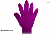 Human Hand Silhouette, Vector Image