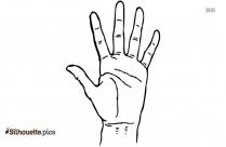Hand Cartoon Silhouette