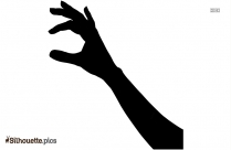 Hand Print Paint Vector Silhouette Icon
