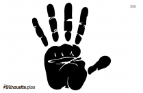 Free Hand Silhouette Clipart