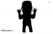 Little Boy Running Symbol Silhouette