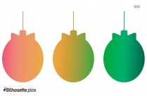 Hanging Christmas Balls Silhouette Clipart