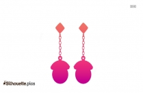 Hanging Earrings Silhouette Illustration