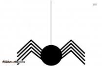 Hanging Halloween Spider Silhouette Art
