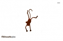 Monkey Man Face Clip Art Silhouette