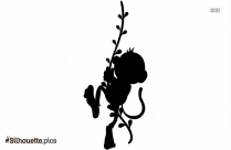 Cartoon Long Tail Monkey Silhouette