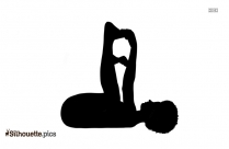 Lotus Tree Pose Silhouette Drawing