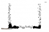 Happy Birthday Borders Silhouette Vector