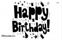 Happy Birthday Decorative Text Silhouette Image