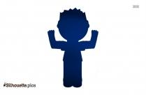 Little Boy Standing Silhouette Clip Art