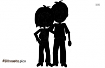 Happy Couple Cartoon Silhouette Picture