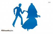Happy Couple Dancing Clipart Silhouette