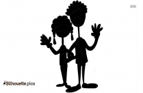 Happy Couple Drawing Silhouette Image