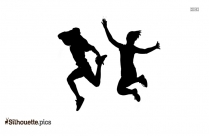 Jumping Silhouette Vector And Graphics