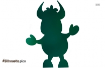 Free Funny Cartoon Cow Silhouette