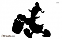 Happy Easter Duck Silhouette Clip Art
