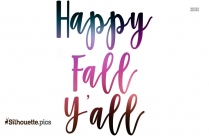 Happy Fall Yall Silhouette Vector