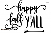 Happy Fall Yall Silhouette Text