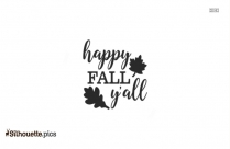 Happy Fall Yall Silhouette Clipart