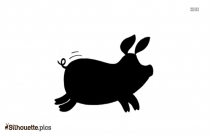 Female Pig Cartoon Silhouette Vector And Graphics