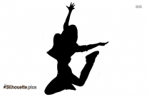 Jumping Silhouette Drawing