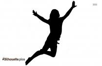 People Jump Roping Silhouette Art