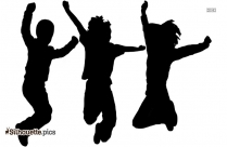 Happy Kids Silhouette Picture