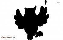 Baby Girl Owl With Bow Silhouette