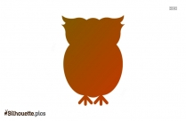 Happy Owl Silhouette Free Vector Art