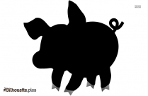 Pig In Love Silhouette Picture