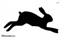 Hare Running Silhouette Icon