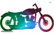 Royal Motorcycle Clip Art Silhouette