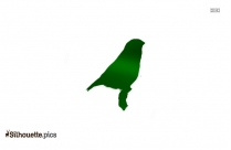 Cartoon Seagull Silhouette Vector