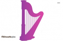 Celtic Harp Background Silhouette