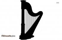 Harp Clip Art Silhouette