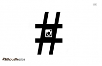 Hashtag Icon Silhouette