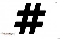 Icon HashTag Silhouette