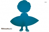 Cartoon Boy Swimming Silhouette Image And Vector