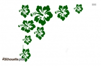 Hawaiian Flower Border Png Silhouette