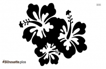 Sweet Pea Flowers Silhouette Clipart