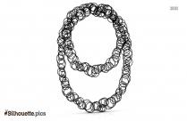 Black Diamond Fleur De Lis Necklace Silhouette