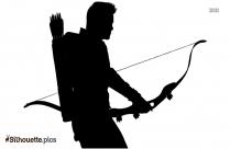 Hawkeye Art Silhouette Illustration
