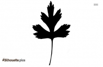Cartoon Shiso Leaves Silhouette