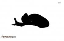 Half Frog Pigeon Yoga Pose Silhouette